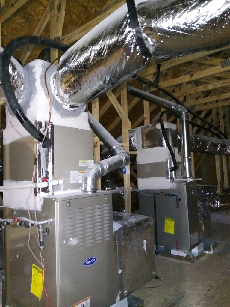 carrier furnace and ductwork installation